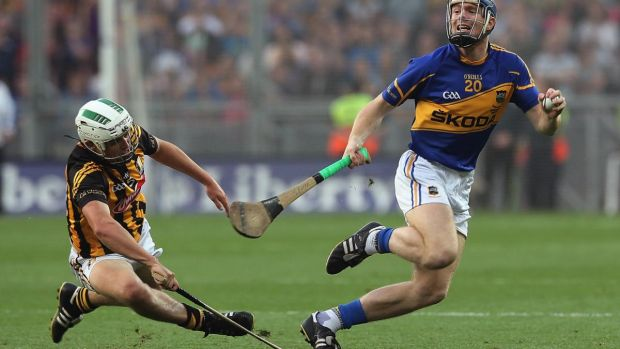 Kilkenny's Pádraig Walsh in action against Jason Forde of Tipperary during the All-Ireland hurling final replay in 2014. Photograph: Lorraine O'Sullivan/Inpho