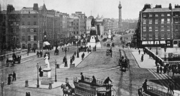 Sackville Street, Dublin, late 19th century. Photograph: The Print Collector/Print Collector/Getty
