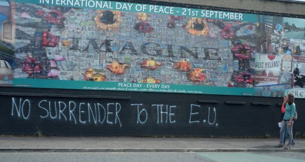 Peace walls in Belfast: in September, if we appear to be heading towards a no-deal Brexit, the Border issue will move centre stage. Photograph: Enda O'Dowd