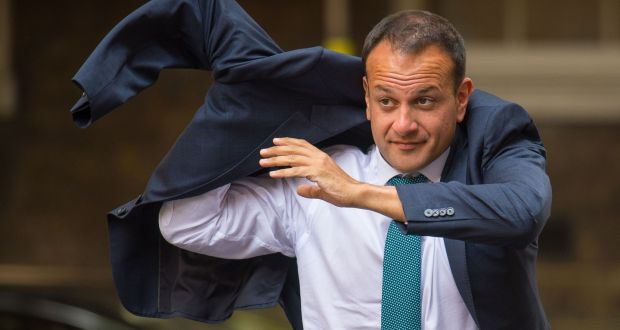 Taoiseach Leo Varadkar: he is central to the greatest constitutional and existential question the UK has faced in generations. Photograph: Dominic Lipinski/PA