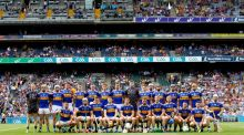 Tipperary ahead of their All-Ireland semi-final win over Wexford. Photograph: James Crombie/Inpho
