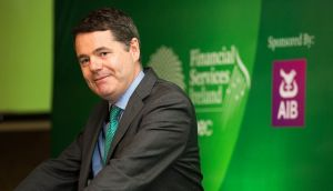 Minister for  Finance Paschal Donohoe: analysts hold out little prospect he will sell  off further bank shares in the foreseeable future. Photograph: Conor Healy