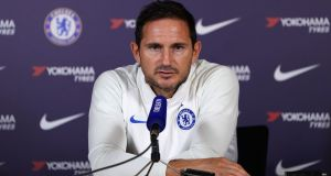 "Frank Lampard: ""What people hopefully saw in the performances was a team giving everything and playing good football."" Photograph:  Tess Derry/PA"