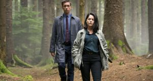 In the woods: Killian Scott and Sarah Greene as detectives Rob and Cassie in the BBC / RTÉ / Starz series Dublin Murders. Image: Euston Films.