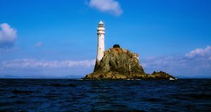 Light keeper Gerald Butler  watched events during the tragic 1979 race unfold from his post at Fastnet Rock (above) and provided a guiding light to yachts and radio signals to rescuers. File photograph: Getty