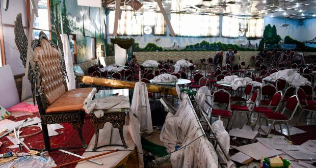 Image result for Suicide bomber targeted a packed Afghan wedding hall at Kabul