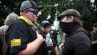 Police make arrests as right-wing and anti-fascist groups clash in Portland