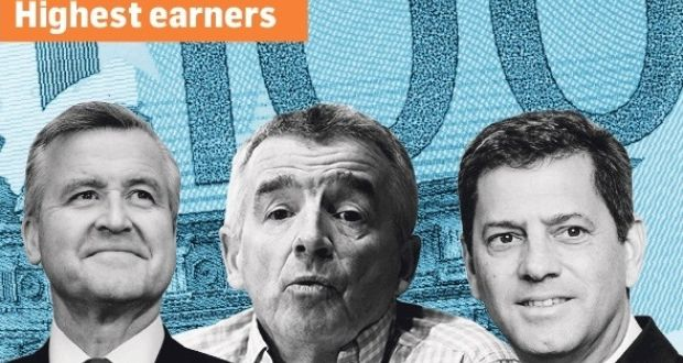 Top three earners: CRH's Albert Manifold (€8.23m), Ryanair's Michael O'Leary (€3.373m) and Smurfit Kappa's Tony Smurfit (€3.372m)