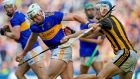 Tipperary's Padraic Maher wins the balls and burst out of his defence. Photograph: Tommy Dickson/Inpho