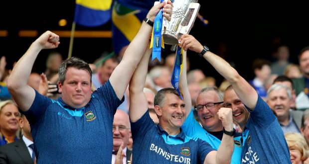 Darragh Egan, Liam Sheedy, Eamon O'Shea and Tommy Dunne. Photograph: James Crombie/Inpho