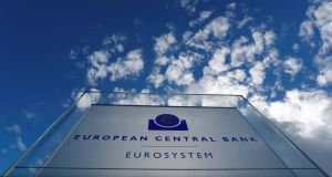 Record low yields are being fueled by rising expectations of policy easing by the European Central Bank. Photograph: Kai Pfaffenbach/Reuters