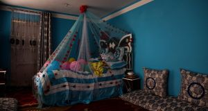 The couple's new bedroom, at the groom's family home, sits unused the day after a suicide bomber attacked their wedding in Kabul on Saturday. Photograph: Jim Huylebroek/New York Times