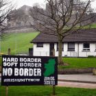 An anti-Brexit and anti-Border sign  in the  Bogside  in Derry. File photograph