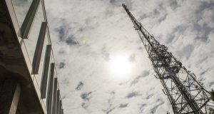 RTÉ mast at Donnybrook: Earlier in August, it was  announced the Government would put the collection of the TV licence fee out to tender. Photograph: Brenda Fitzsimons
