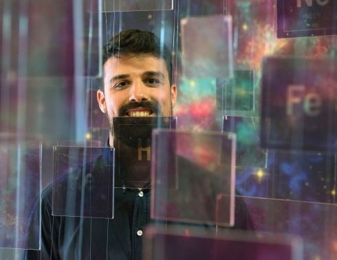 SPACE OUT: Astrophysicist Ruben Fedriani at the launch of an exhibition celebrating 100 years of space exploration, by the Dublin Institute for Advanced Studies. Photograph: Dave Meehan/The Irish Times