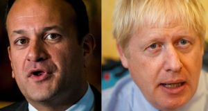 Both leaders spoke by phone in the waeke of the incident. Photographs: Liam McBurney/PA Wire and Peter Nicholls/PA Wire