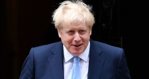 Conservative party chairman James Cleverly on Tuesday said UK prime minister Boris Johnson was asking the EU to 'look at reality' on the Irish Border backstop. Photograph: Daniel Lead Olivas/AFP/Getty Images.