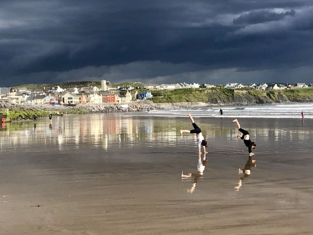 Reflections of Summer 2019, Lahinch Beach. Photograph: Enda O'Connell