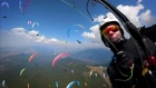 Paragliders colour the skies over Macedonia
