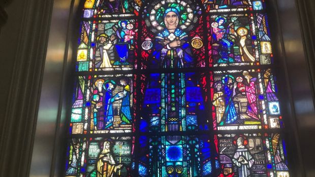 Harry Clarke's stained glass windows in St Peter and Paul's are an absolute delight, rich with delicate detail.