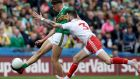 "David Clifford in action against Ronan McNamee of Tyrone. ""I don't buy this idea that Kerry have nothing to lose. They have an All-Ireland final to lose.""  Photograph: Bryan Keane/Inpho"