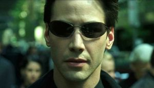 Keanu Reeves in The Martix. Photograph: Warner Bros