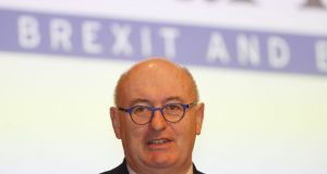 "EU commissioner Phil Hogan said ""the EU will not buckle"" on the backstop. File image: Nick Bradshaw/The Irish Times"
