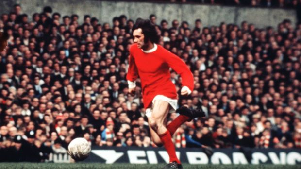 George Best playing for Manchester United in 1969.