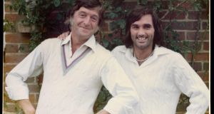 Michael Parkinson with his friend, George Best. As a talk show host, Parkinson went on to interview Best more than a dozen times.