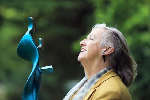 Sculptor Sandra Bell has been commissioned by Dublin City University to create a new public sculpture inspired by the work of teachers. Photograph: Julien Behal