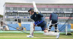 Jason Roy of England bats during a nets session at Headingley ahead of the third Ashes Test. Photo: Gareth Copley/Getty Images