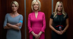 Bombshell: Charlize Theron as Megyn Kelly, Nicole Kidman as Gretchen Carlson and Margot Robbie in Bombshell. Photograph: Hilary B Gayle/Lionsgate