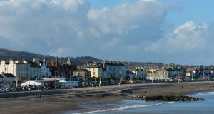 A view of Bray sea front promenade. Photograph:  Artur Widak/NurPhoto via Getty