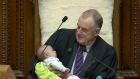 New Zealand speaker feeds baby as parliamentary debate rages