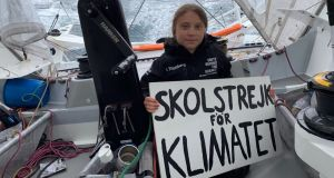 Teenager Greta Thunberg on board the racing boat Malizia II in the Atlantic Ocean. Activists such as her have catapulted the climate emergency on to centre stage. Photograph:    Greta Thunberg/EPA