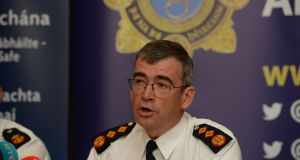 Garda Commissioner Drew Harris held a press conference on Thursday morning in Dublin to unveil his new plans or the force. Photograph: Alan Betson/The Irish Times