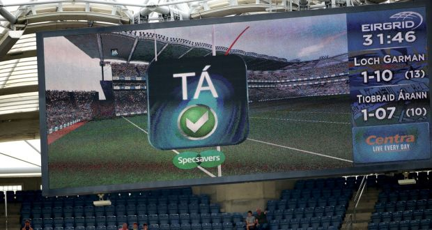 Hawk-Eye: the technology was called upon in the All-Ireland semi-final and during last weekend's hurling final.