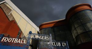 Rangers have bee ordered to close part of Ibrox for Thursday's Europa League clash with Legia Warsaw. Photograph: Alex Livesey/Getty