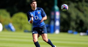 England scrumhalf Ben Youngs  during a  training session at Pennyhill Park  in Bagshot. Photograph:   David Rogers/Getty Images