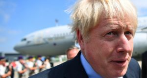 Britain's prime minister Boris Johnson arrives in Biarritz on Saturday for the G7 summit. Photograph: Dylan Martinez – Pool/Reuters