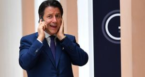 Giuseppe Conte: At the G7 summit in Biarritz on Saturday, he said he did not expect to be prime minister again. Photograph: Dylan Martinez