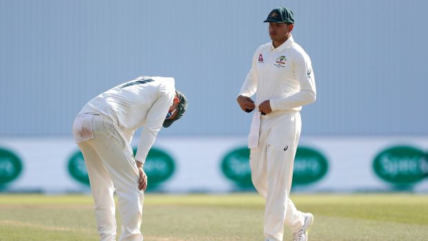 A dejected Nathan Lyon after Australia's one wicket defeat at Headingley. Photograph: Ryan Pierse/Getty