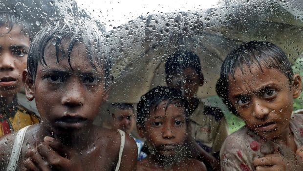 Rohingya refugee children in a camp in Cox's Bazar, Bangladesh. File photograph: Cathal McNaughton/Reuters