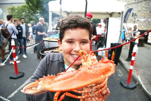LOBSTERT FESTIVAL: Henrique Tessarotto enjoying the Dalkey Lobster Festival in Dublin on Sunday. Photograph: Stephen Collins/Collins Photos