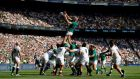 Ireland win a lineout against England during their defeat at Twickenham Stadium. Photograph: Peter Nicholls/Reuters