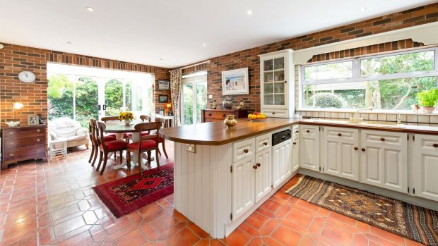 The kitchen/breakfastroom at Albert House, Victoria Road, Dalkey, Co Dublin