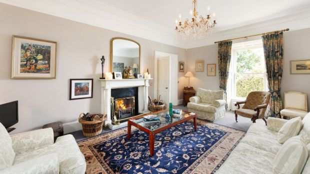 The drawingroom at Albert House, Victoria Road, Dalkey, Co Dublin