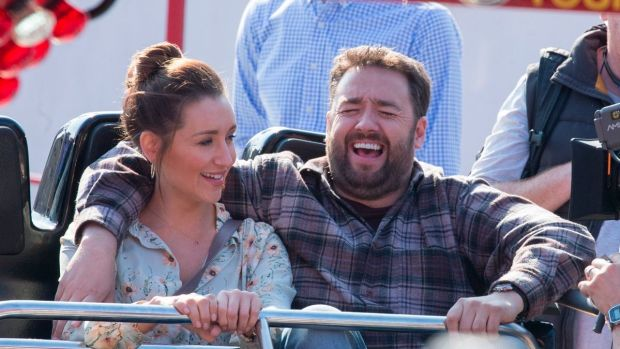 Catherine Tyldesley and Jason Manford in Scarborough