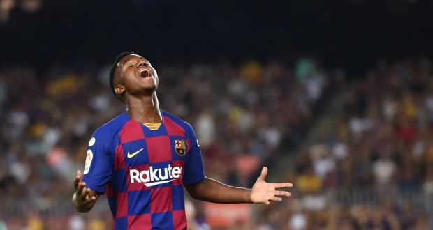 Ansu Fati 16 Year Old Makes Full Debut For Barcelona