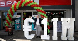 Ken O'Connor, owner of the Spar Texaco Service Station in Enniskerry, Co Wicklow where the winning ticket was sold. Photograph: Mac Innes Photography/PA Wire